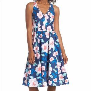🆕 Eliza J Fit & Flare Floral Dress Size 4P